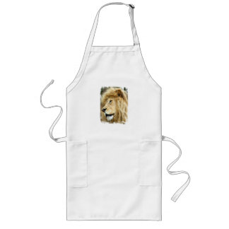 Lion with Thick Mane Long Apron