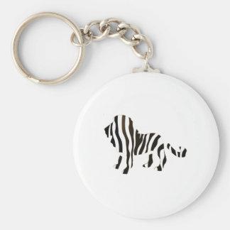 Lion Zebra Mash Up Key Ring