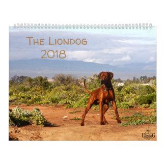 Liondog - Rhodesian Ridgeback Calendar 2018
