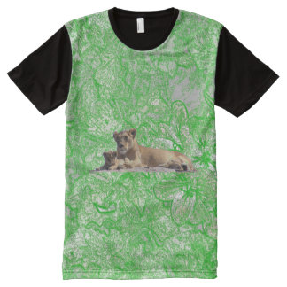 Lioness And Cub All-Over Print T-Shirt