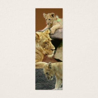 Lioness and Cubs Mini Bookmark / Mini Business Card
