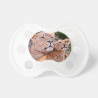 Lioness and Lion Cub Rest Before The Hunt Baby Pacifiers