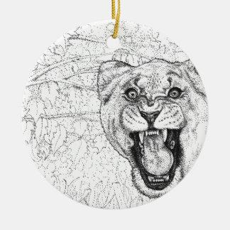 Lioness Ceramic Ornament