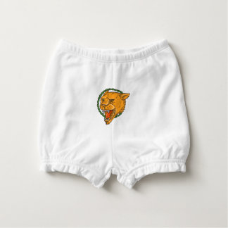 Lioness Growling Ring Leaves Tattoo Nappy Cover