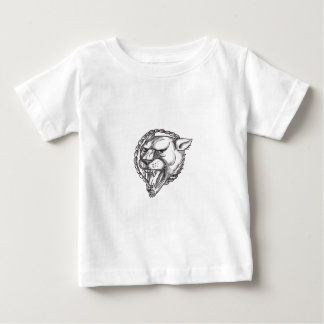 Lioness Growling Rope Circle Tattoo Baby T-Shirt
