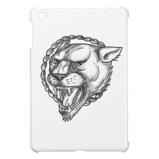 Lioness Growling Rope Circle Tattoo iPad Mini Case
