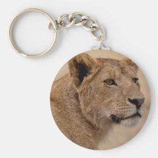 Lioness head closeup keychain