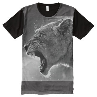 Lioness-Howl-brave, sincere maternal love All-Over Print T-Shirt