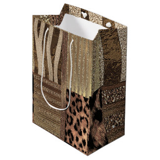 Lioness Safari Chic Jungle Glam Modern Party Medium Gift Bag