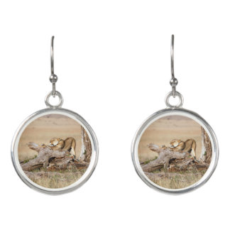 Lioness stretching earrings