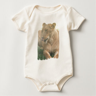 Lioness with Tongue Out Baby Bodysuit