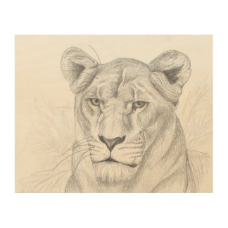 Lioness Wood Wall Decor