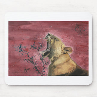 Lioness Yawn Mouse Pad