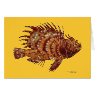 Lionfish blank note greeting card