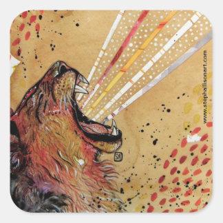 LionHart Square Sticker