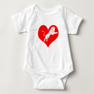 Lionheart:  Unafraid to express love Baby Bodysuit