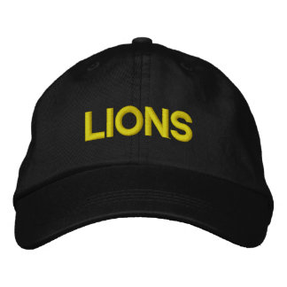 Lions Adjustable Cap