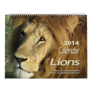 Lions Calendar 2014 (Two-Page)