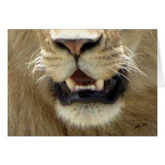 (Lions Clubs) Lion's Nose & Mouth (Masai Mara) Card