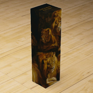 Lions' Den custom wine gift box