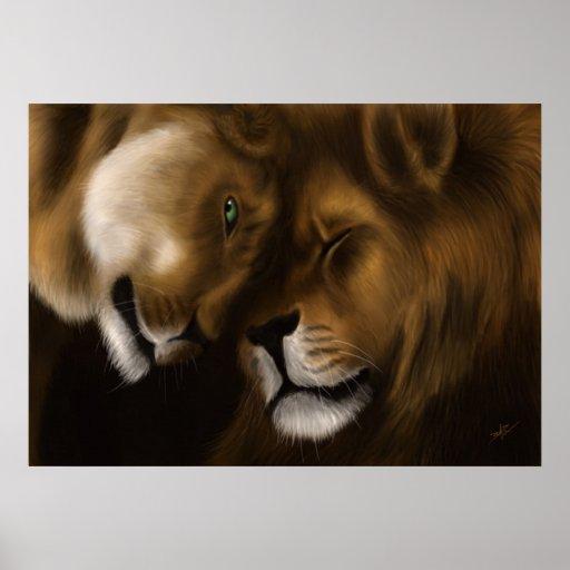 Lions - Digital Painting Print