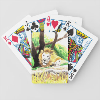 Lions from Safari Bicycle Playing Cards