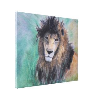 Lion's Gaze Canvas Print
