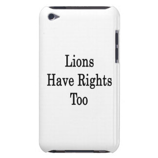 Lions Have Rights Too iPod Case-Mate Cases
