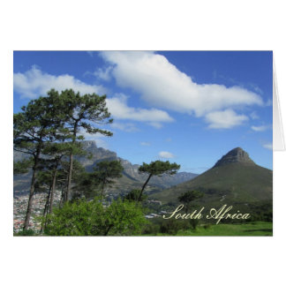 Lion's Head - 12 Apostles - South Africa Card