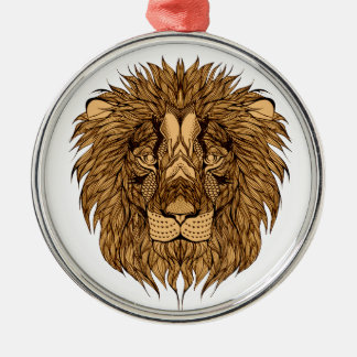 Lion's Head Metal Ornament