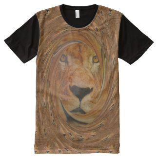 Lions Men American Apparel All-Over Printed Pane All-Over Print T-Shirt