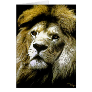 Lions only kill when they are hungry....(card) card