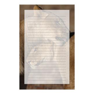 Lions (Panthera leo) pair bonding, Skeleton Personalised Stationery