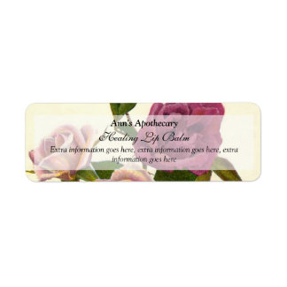 Lip Balm or Skin Products Label - Rose