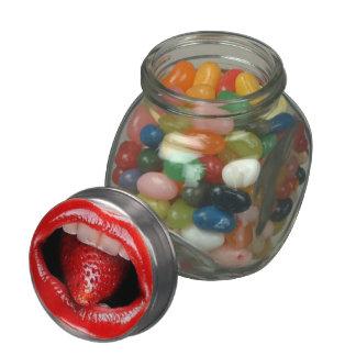 Lip Design Glass Candy Jar