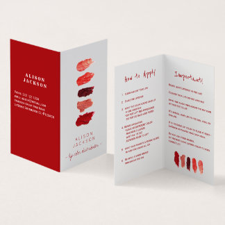 Lip distributor lip color swatces business card