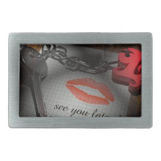 Lip lock love belt buckle