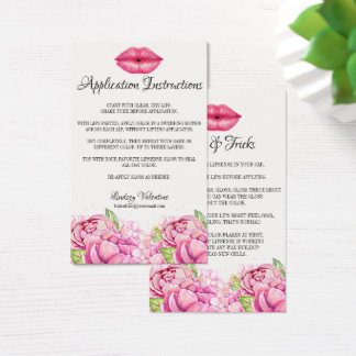 Lips Application Instructions and Tips and Tricks Business Card