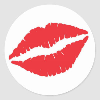 Lips Classic Round Sticker