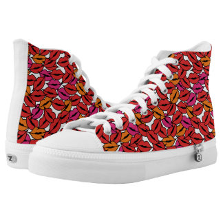 Lips Complex Pattern Printed Shoes