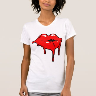 Lips Drip Ladies Tank Top (Fitted)