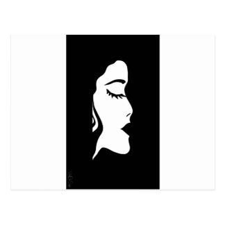 lips, face, hair , female, girl , she postcard