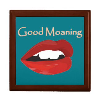 Lips Good Moaning To You Large Square Gift Box