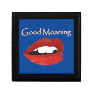 Lips Good Moaning To You Small Square Gift Box