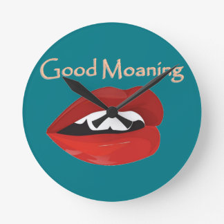Lips Good Moaning To You Wall Clocks