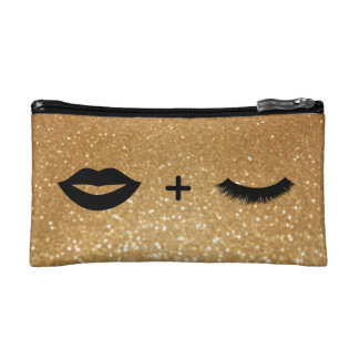 Lips + Lashes Graphic Cosmetic Bag