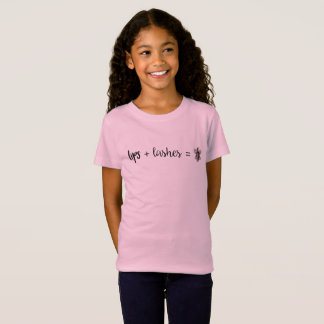 Lips + Lashes = Social Butterfly Graphic T-Shirt