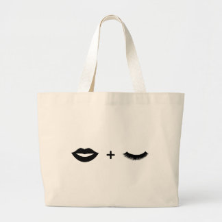 Lips + Lashes Tote Graphic