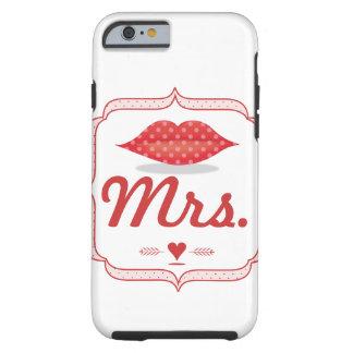 Lips Mrs. Hipster Vintage Retro Bride Tough iPhone 6 Case