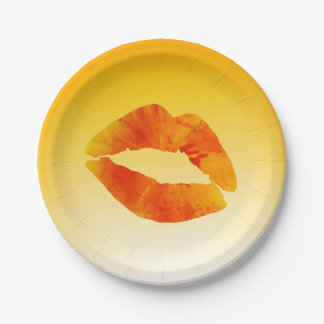 Lips Sexy Mouth Custom Paper Plates 7 in